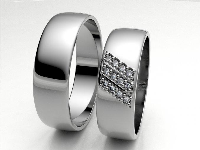 Snubní prsteny bílé zlato 3307101