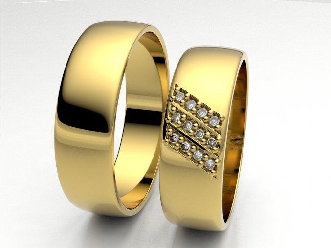 Snubní prsteny žluté zlato 3307102