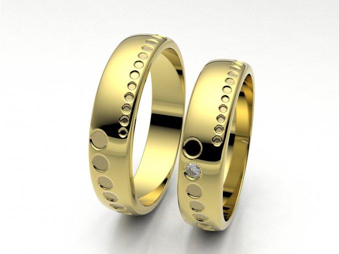 Snubní prsteny žluté zlato 3307202