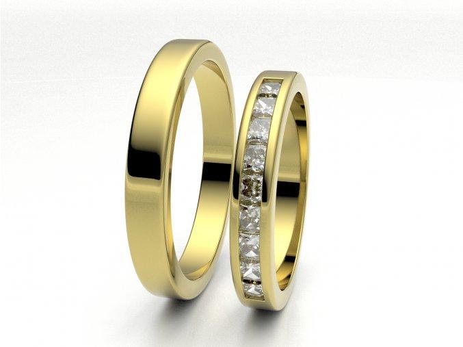 Snubní prsteny žluté zlato 3307402