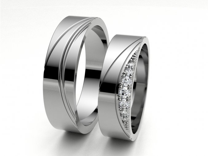 Snubní prsteny bílé zlato 3307601