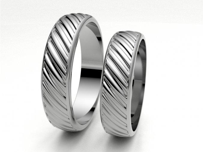 Snubní prsteny bílé zlato 3307801