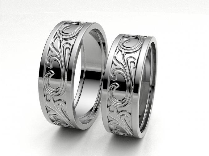 Snubní prsteny bílé zlato 3307901