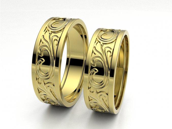 Snubní prsteny žluté zlato 3307902