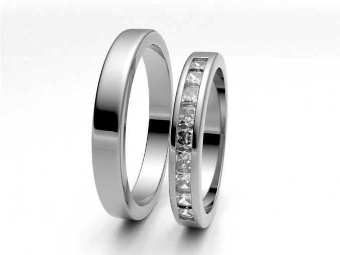 Snubní prsteny bílé zlato 3307401