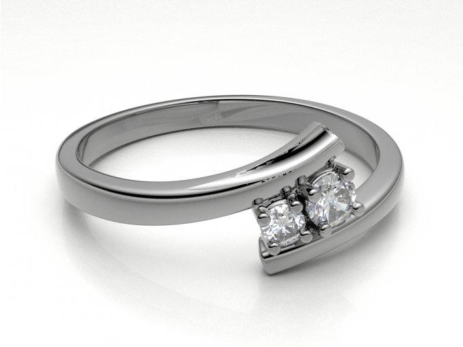Zlatý zásnubní prsten 2303701