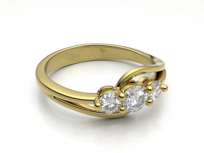 Zlatý zásnubní prsten do soupravy se snubním 2304601