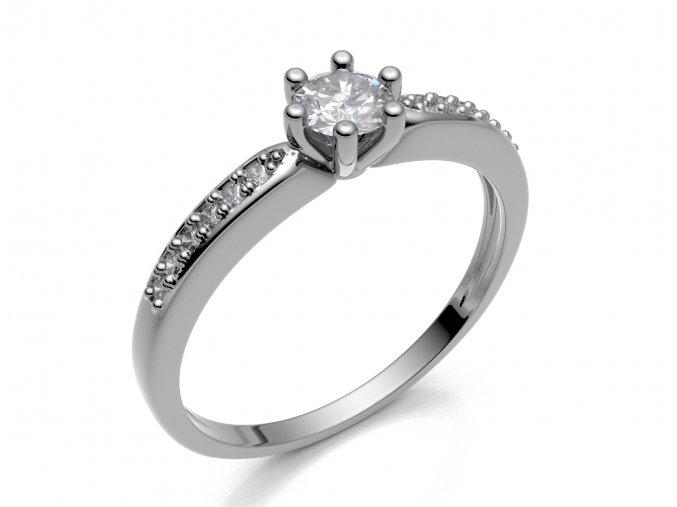Zlatý zásnubní prsten 2304701