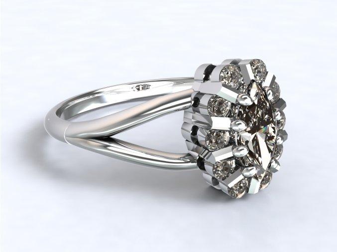 Stříbrný prsten malá Diana
