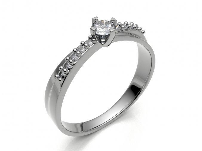 Zlatý prsten se zirkony 1306001
