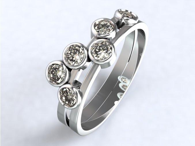 Stříbrný prsten hrozen 315301
