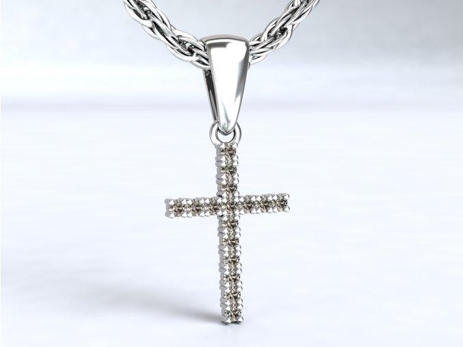 Zlatý křížek se zirkony 1106301