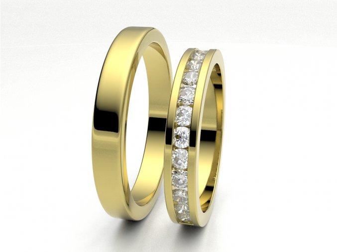 Snubní prsteny žluté zlato 3308002