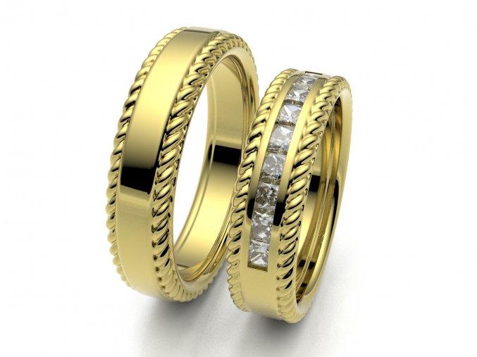 Snubní prsteny žluté zlato 3308402