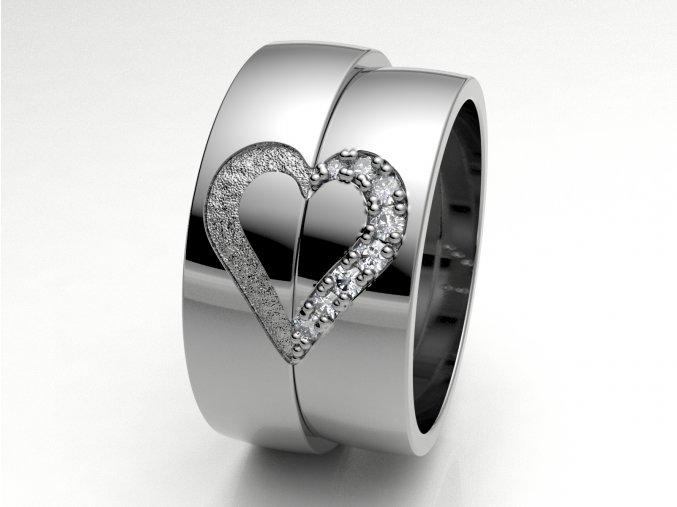 Snubní prsteny bílé zlato 3308501
