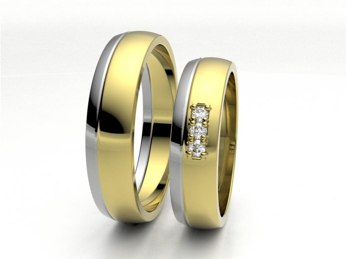 Dvojbarevné snubní prsteny 3307503