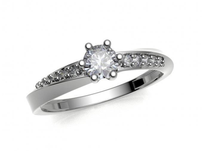 Zlatý zásnubní prsten do soupravy se snubním 1309401