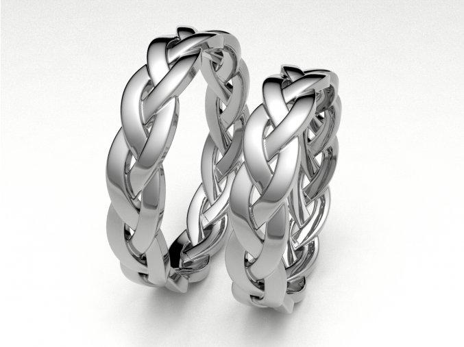 Snubní prsteny bílé zlato 3308601