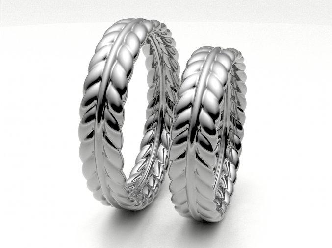Snubní prsteny bílé zlato 3308701