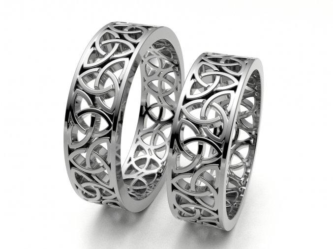 Snubní prsteny bílé zlato 3308801