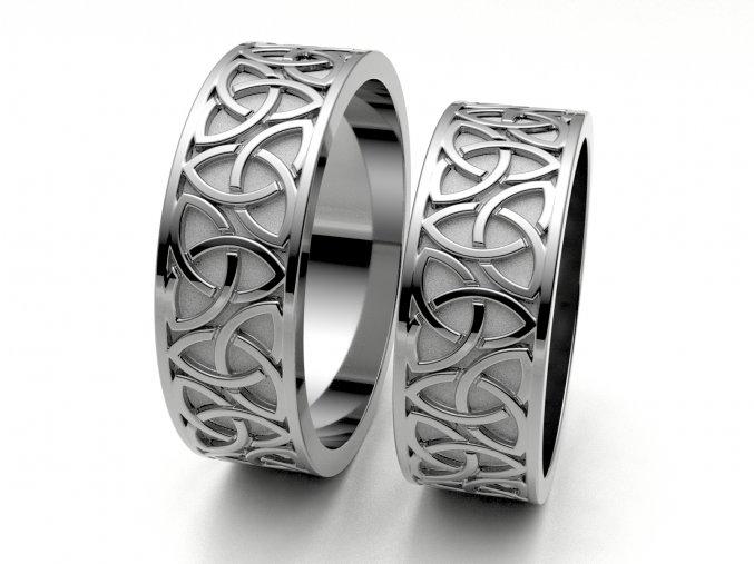 Snubní prsteny bílé zlato 3308901