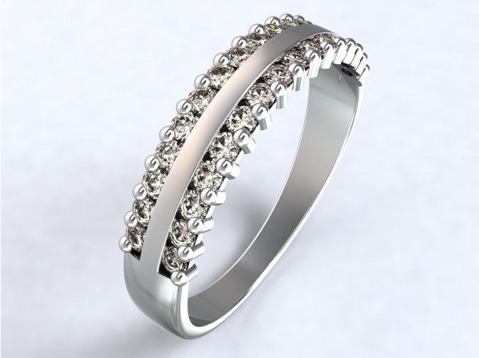 Stříbrný prsten krajka 316101