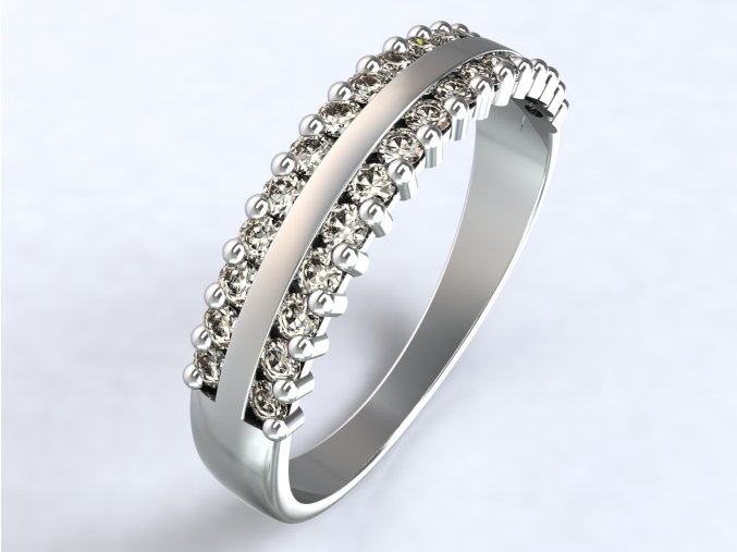 Stříbrný prsten krajka
