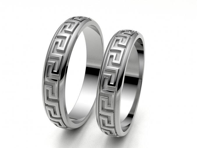 Snubní prsteny bílé zlato 3309201