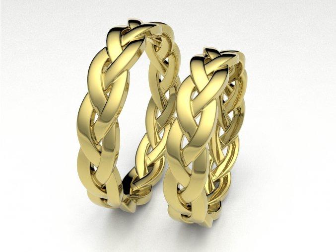 Snubní prsteny žluté zlato 3308602