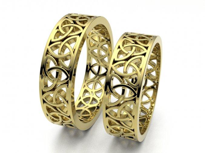 Snubní prsteny žluté zlato 3308802