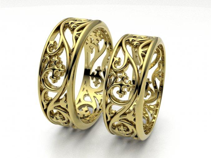 Snubní prsteny žluté zlato 3309002