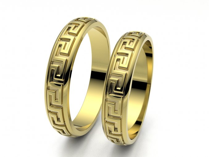 Snubní prsteny žluté zlato 3309202