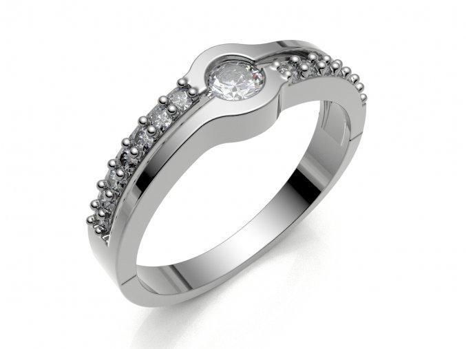 Zlatý prsten s kameny 991304801