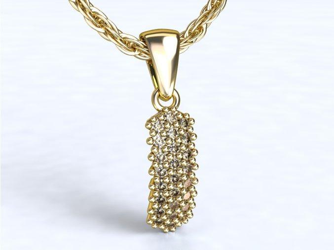 Zlatý přívěsek s kameny 1104501