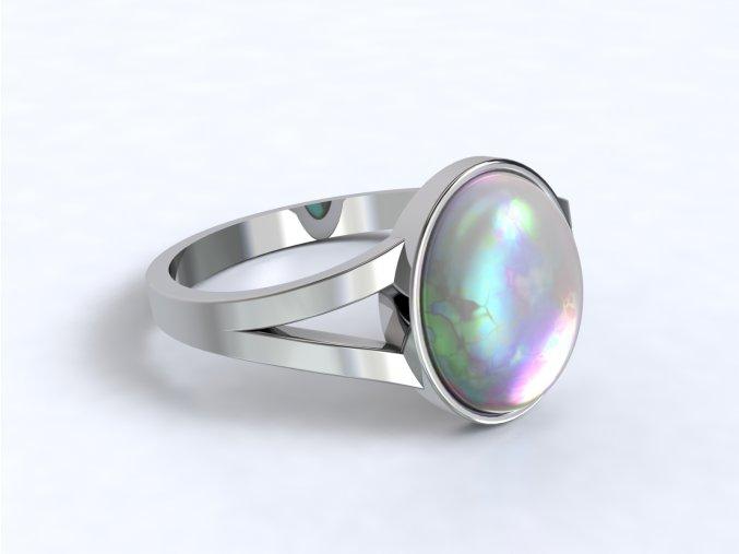 Stříbrný prsten s opálem 327201