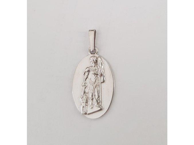 Stříbrný přívěsek svatý Florián 012701