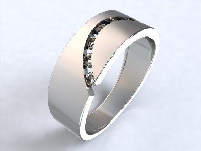 Stříbrný prsten úsměv