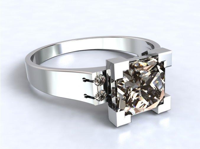 Stříbrný prsten věž