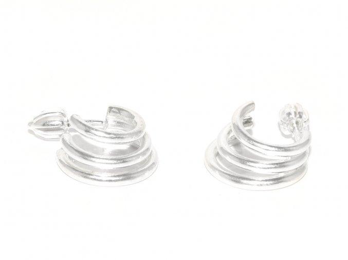 Stříbrné trojité kroužky 213601