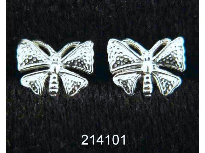 Stříbrné šroubky motýl 214101