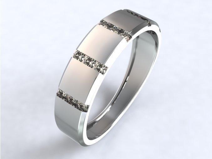 Stříbrný prsten sloupky