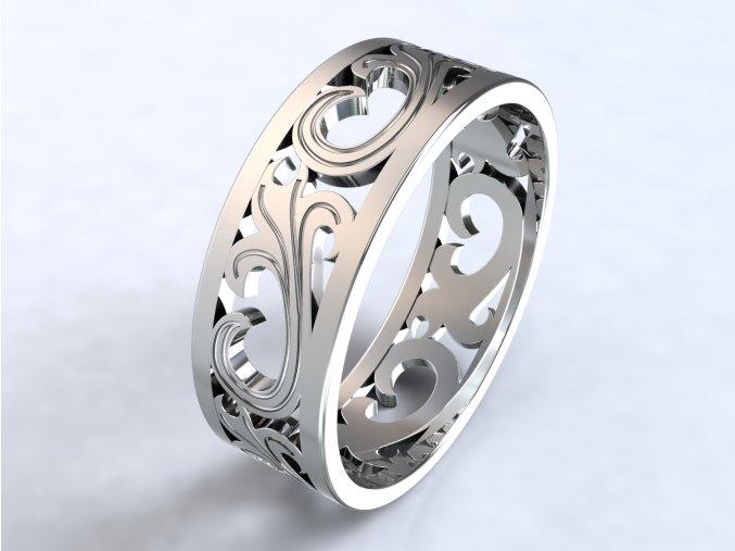 Ag925 prsten lilie prořez