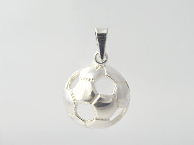 Stříbrný přívěsek fotbalový míč 117701