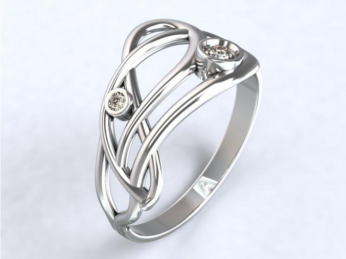 Ag925 prsten list kroucený