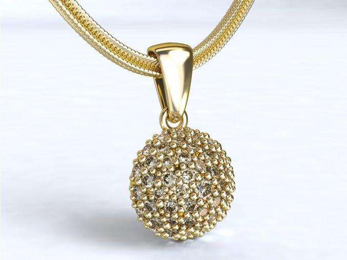 Zlatý přívěsek s kameny 1103801