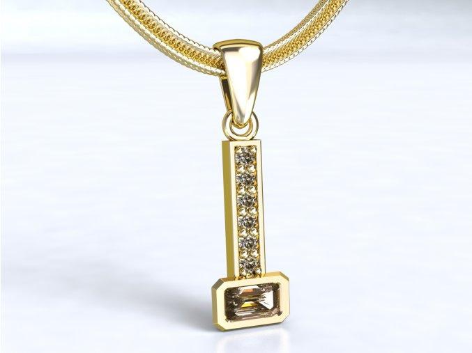 Zlatý přívěsek s kameny 1104201
