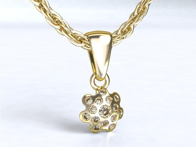 Zlatý přívěsek chobotnice 1106001