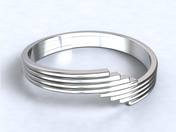 Stříbrný prsten schody 318501