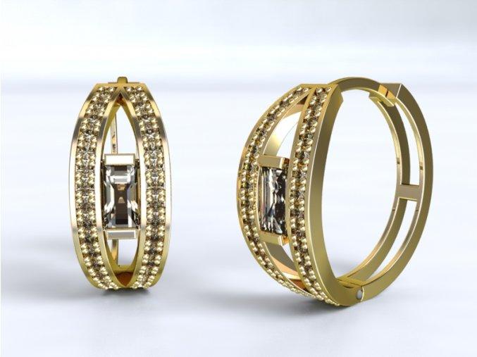 Zlaté náušnice velké kruhy 1204301