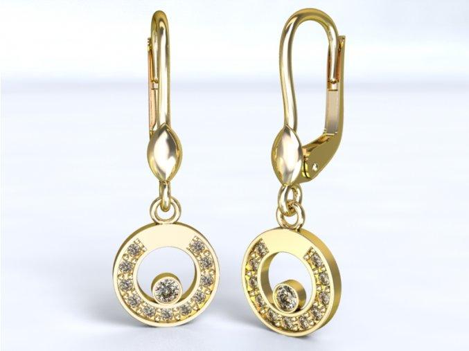 Zlaté náušnice kolečka 1205201